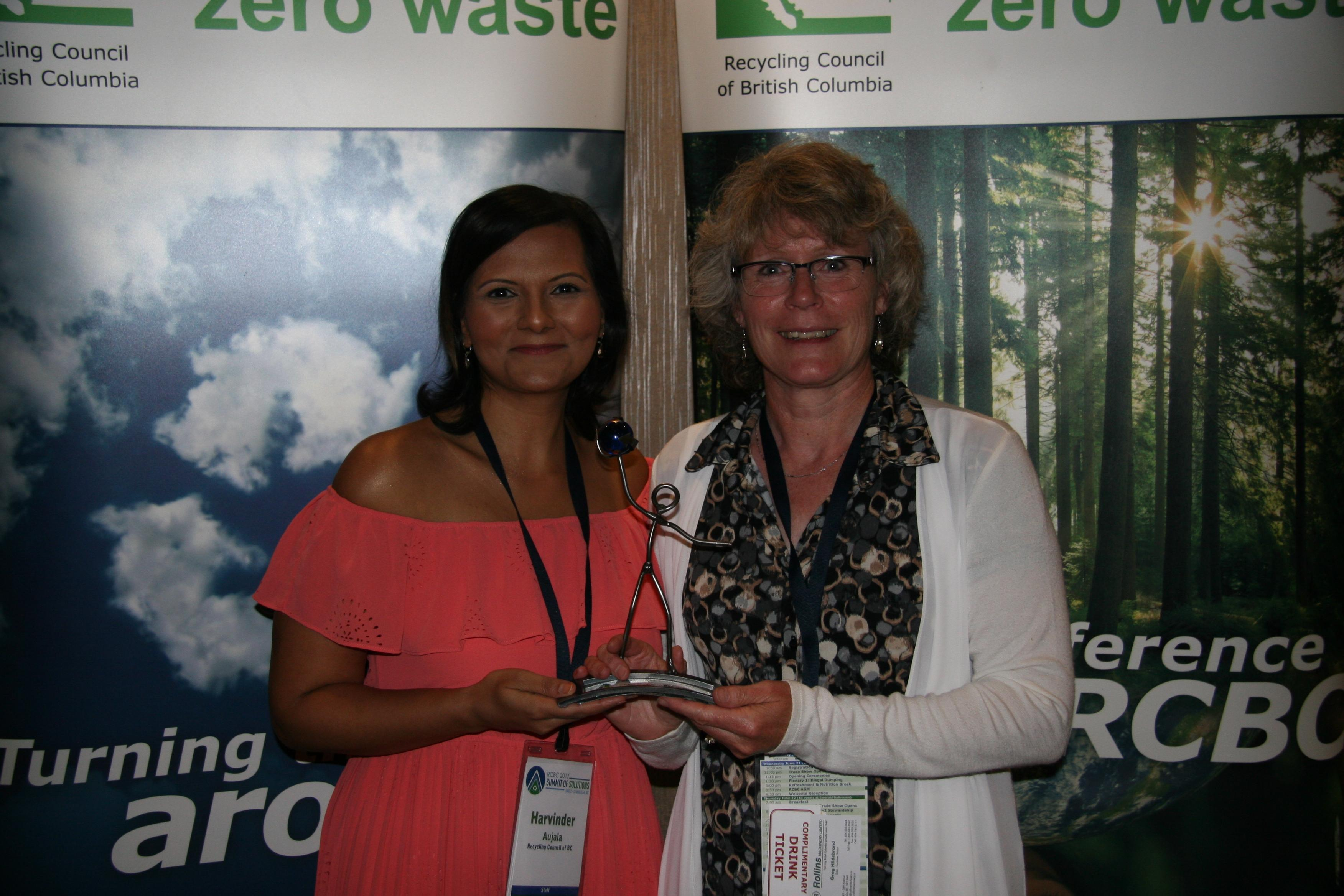 Donna Bartel from Coast Mountain Bus Company with RCBC's Harvinder Aujala
